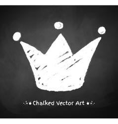 Chalked crown vector image vector image