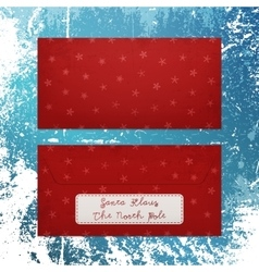 Christmas envelope with snowflakes to santa klaus vector