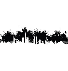 cityscape splash background vector image vector image