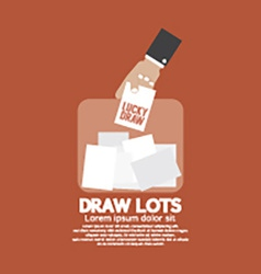 Draw lots risk taking concept vector