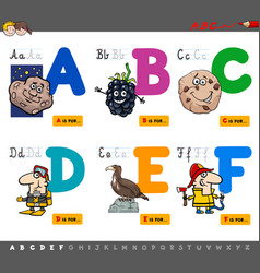 Educational cartoon alphabet letters vector
