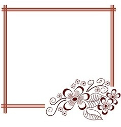 Floral hand drawn frame Greeting invitation card vector image vector image