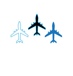 Icons flying planes vector