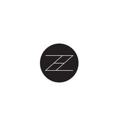 initial letter z h logo template alphabet symbol vector image