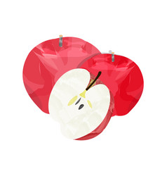 Isolated group of apples vector