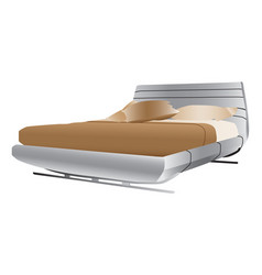 Luxurious double bed vector