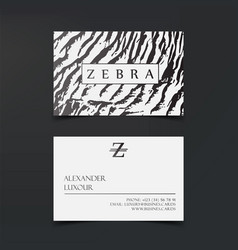 luxury fashion business cards template vector image vector image