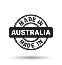 Made in australia black stamp on white background vector
