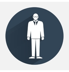Man icon Office worker symbol Standing men in vector image vector image