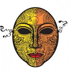 Masque gold vector
