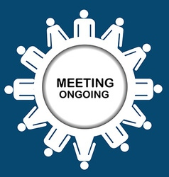 Meeting outgoing icon vector image vector image