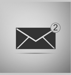 new email incoming message sms envelope icon vector image vector image