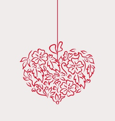 Ornamental heart in hand drawn style for valentine vector