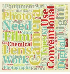 Photography Q A Types Of Photography Equipment vector image vector image