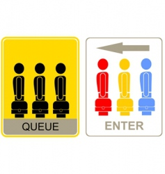 queue and enter vector image vector image