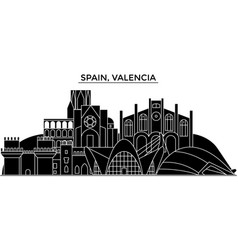 spain valencia architecture city skyline vector image