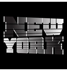 T shirt New York vector image vector image
