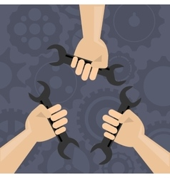 Teamwork related icons image vector