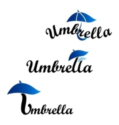 Umbrella logotype of company vector image vector image