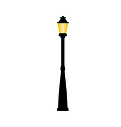 Vintage streetlight on white background vector