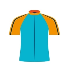 Cyclist wear shirt icon vector