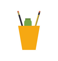 Cup with pencils vector
