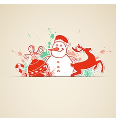 Christmas background with paper decoration vector