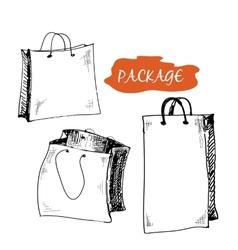 Set of package vector image