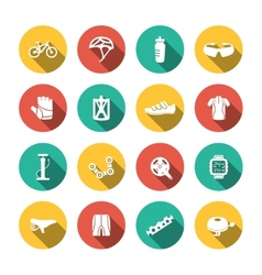 Set of biking icons vector