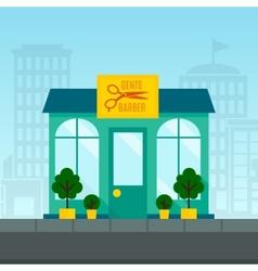 Barbershop Flat Background vector image