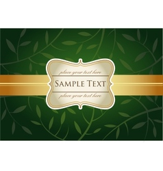 Green greeting card vector