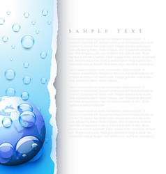 Earth water droplets vector