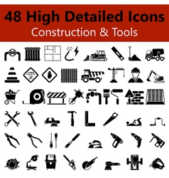 Construction and tools smooth icons vector