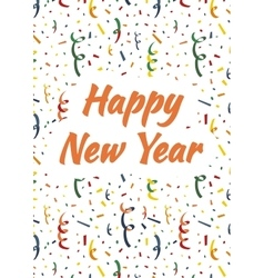 Happy new year cover with exploding party popper vector