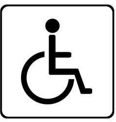 Disabled handicap sign vector