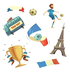 Euro 2016 football set vector