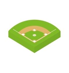 League icon baseball design graphic vector