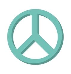 Peace symbol isolated icon design vector