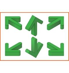 Arrows isometric 3d vector