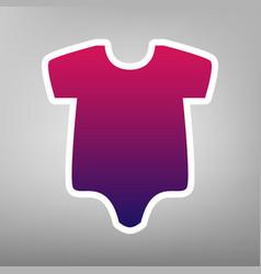 baby cloth purple gradient vector image vector image