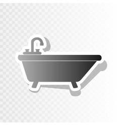 Bathtub sign new year vector