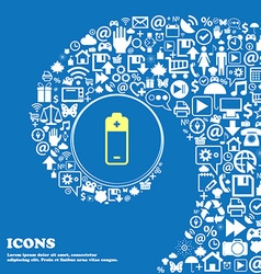 battery icon Nice set of beautiful icons twisted vector image