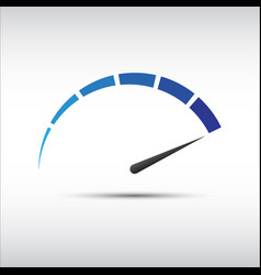 blue tachometer speedometer icon performance vector image vector image