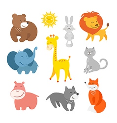 Cartoon animals zoo vector image vector image