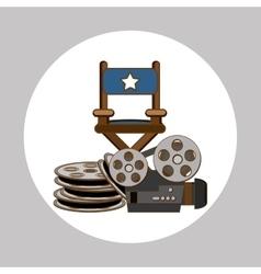 Cinema graphic design vector