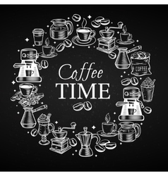 Coffee time banner vector