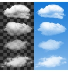 Collection of cloud symbols vector