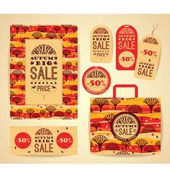Design set for autumn sale vector image vector image