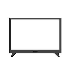 flat screen tv icon image vector image