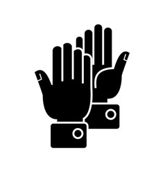 hands clapping icon black vector image vector image
